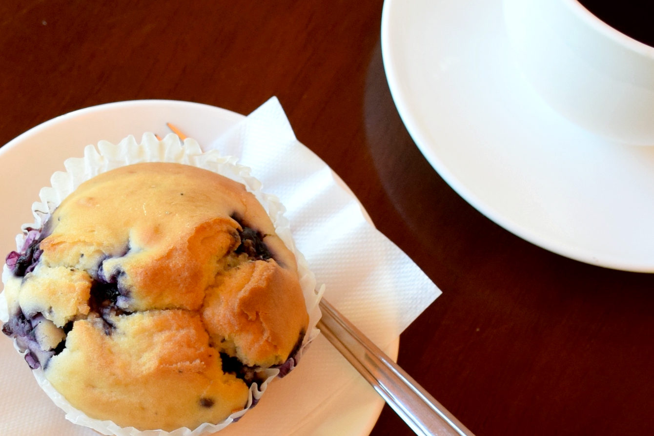 Blueberry muffin(いわき市平のコーヒーと紅茶・ランチとケーキのノルウェーカフェです)